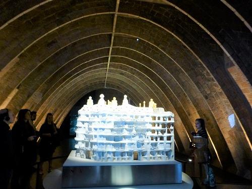 スペイン・バルセロナのカサ・ミラ内部に展示されている模型