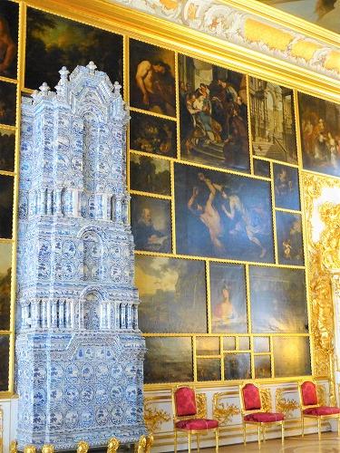 ロシア・サンクトペテルブルクのエカテリーナ宮殿内部