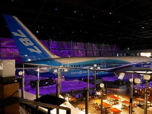 中部国際空港(セントレア)に併設されているflight of dreams内部にあるボーイング787初号機