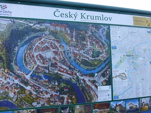 チェコ・チェスキークルムロフの案内板
