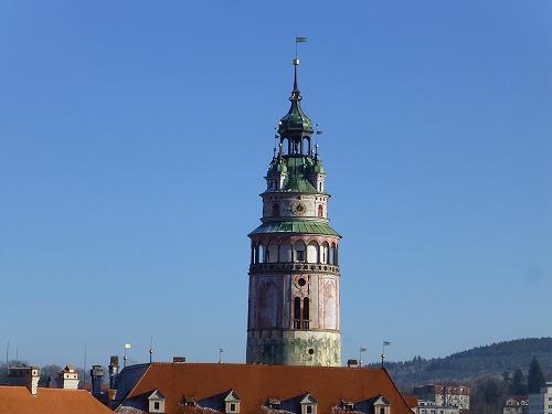 チェコ・チェスキークルムロフのチェスキークルムロフ城の塔