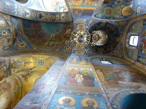 ロシア・サンクトペテルブルクの血の上の救世主教会のモザイク画