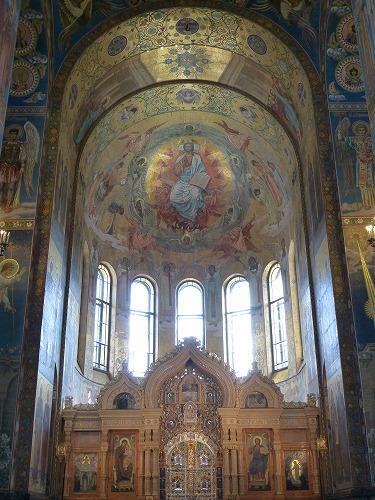 ロシア・サンクトペテルブルクの血の上の救世主教会の主祭壇
