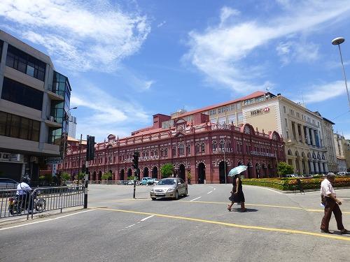 スリランカ・コロンボのフォート地区の建物