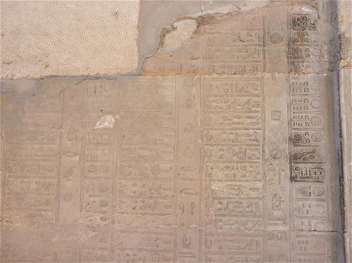 エジプトのコム・オンボ神殿のカレンダーの壁画