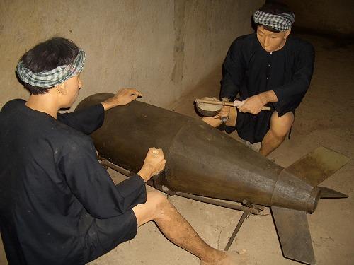 ベトナム・クチ(ベンディン)の爆弾製造を再現したジオラマ