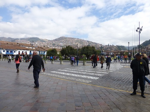 ペルー・クスコのアルマス広場付近