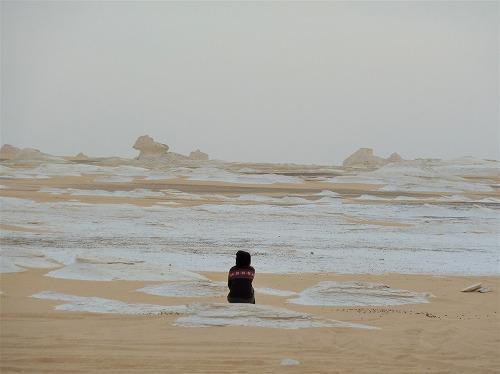 エジプト西方砂漠の白砂漠