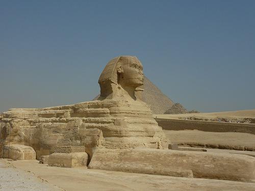 エジプト・ギザのスフィンクスの横顔