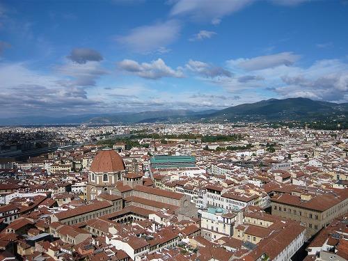 イタリア・フィレンツェのジョットの鐘楼からの眺め