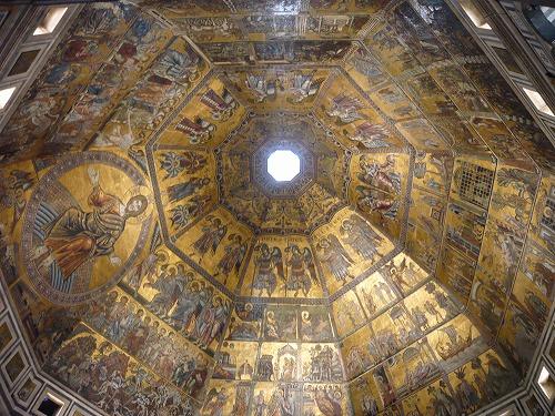 イタリア・フィレンツェのサン・ジョヴァンニ洗礼堂の天井画