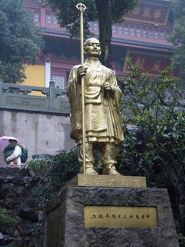 上海・杭州にある霊隠寺の空海像