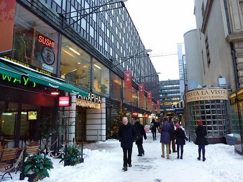 フィンランド・ヘルシンキの街並み(冬)