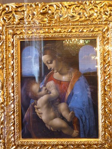 ロシア・サンクトペテルブルクのエルミタージュ美術館に展示されているレオナルド・ダ・ヴィンチ作の『リッタの聖母』