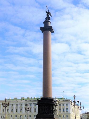 ロシア・サンクトペテルブルクのアレクサンドルの円柱