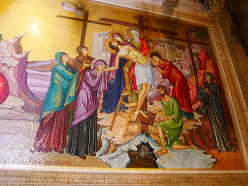 エルサレム(イスラエル)の聖墳墓教会内にあるモザイク画