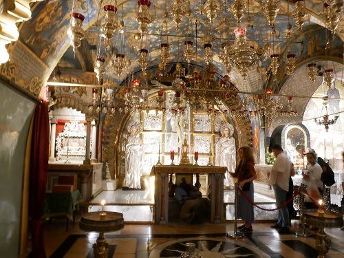 エルサレム(イスラエル)の聖墳墓教会内の祭壇