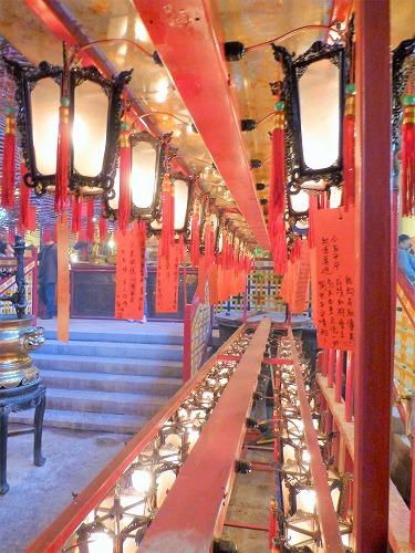 香港の文武廟の提灯