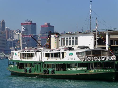 香港の香港島と九龍半島を結ぶスターフェリー