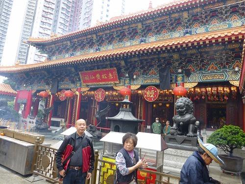 香港の黄大仙祠の本堂