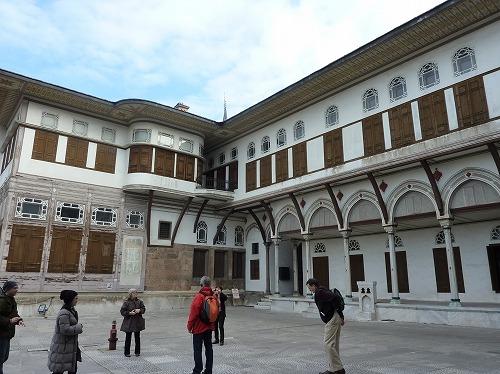 トルコ・イスタンブールのトプカプ宮殿のハレム(愛妾のテラス)