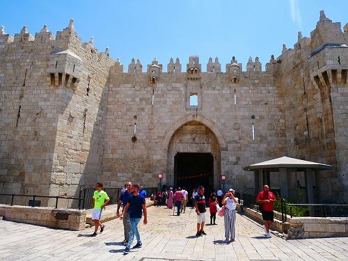 エルサレム(イスラエル)の旧市街にあるダマスカス門