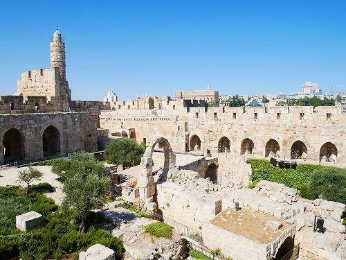 エルサレム(イスラエル)の旧市街にあるダビデの塔の内部