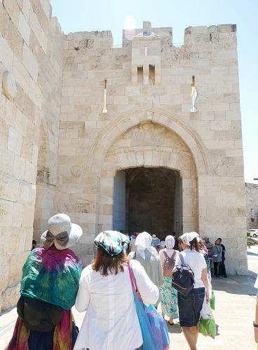 エルサレム(イスラエル)の旧市街のヤッフォ門入口