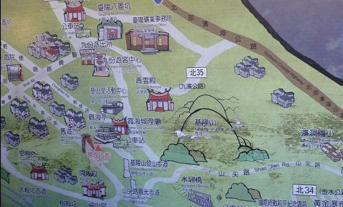 台湾・九份の地図