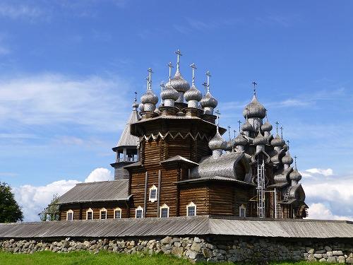 ロシア・キジ島にあるポクロフスカヤ教会