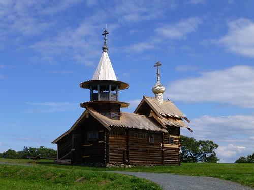 ロシア・キジ島にあるアルハンゲル・ミハイル礼拝所