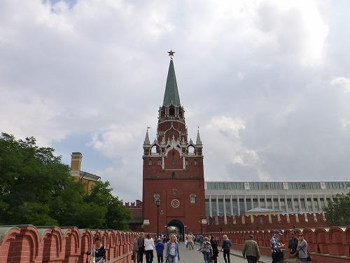 ロシア・モスクワのクレムリンのトロイツカヤ塔