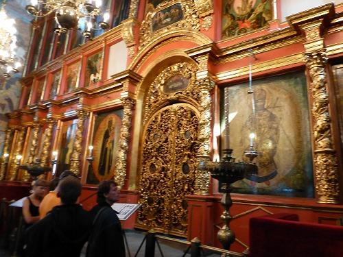 ロシア・モスクワのクレムリンのブラゴヴェシチェンスキー聖堂内部