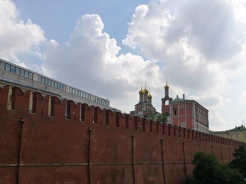 ロシア・モスクワのクレムリンを囲む城壁