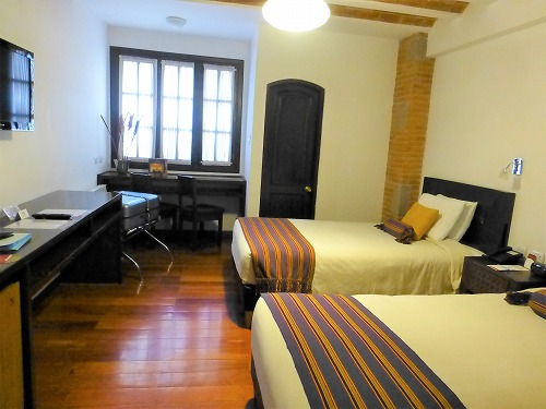 ボリビア・ラパスのラ・カソナ・ホテルの室内