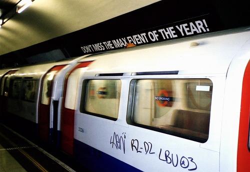 イギリスのロンドンを走る地下鉄(チューブ)
