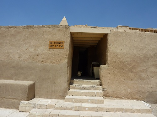 エジプト・ルクソール(ナイル川西岸)のデール・イル・マディーナ内の墓