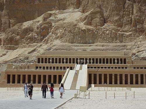 エジプト・ルクソールのハトシェプスト女王葬祭殿