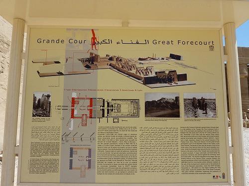 エジプト・ルクソールのカルナック神殿(アメン大神殿)にある案内板