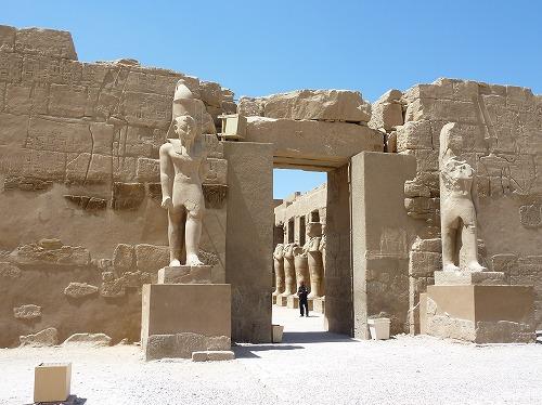 エジプト・ルクソールのカルナック神殿(アメン大神殿)