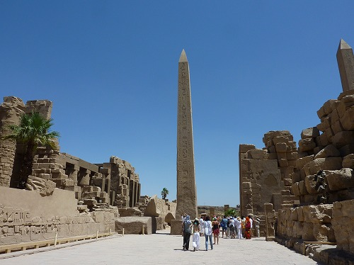 エジプト・ルクソールのカルナック神殿(アメン大神殿)にあるオベリスク
