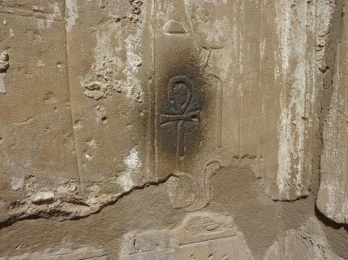 エジプト・ルクソールにあるルクソール神殿のアンク