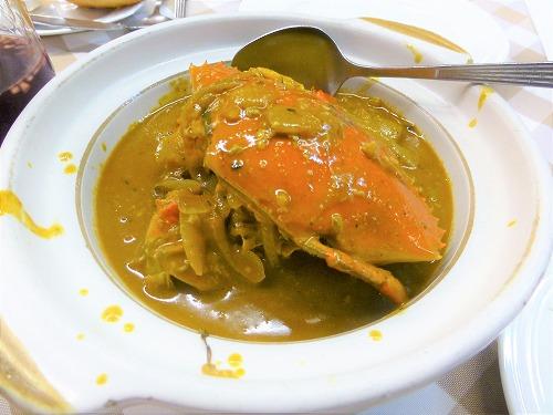 マカオ・船屋葡國餐廳のカニのカレー煮込み