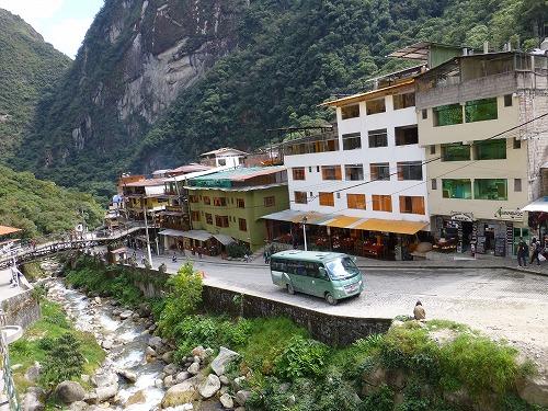 マチュピチュ村内の風景
