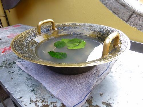 マカオ・媽閣廟の魚洗鍋