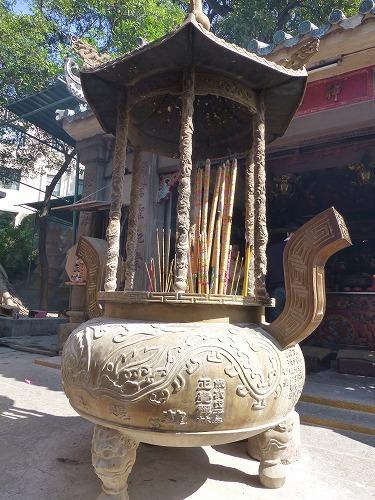 マカオの媽閣廟の香炉