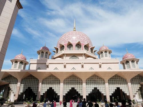 マレーシアのピンクモスク外観
