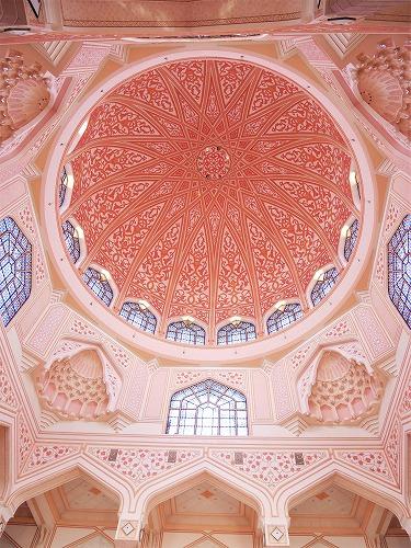 マレーシアのピンクモスク内部(ドーム部分)