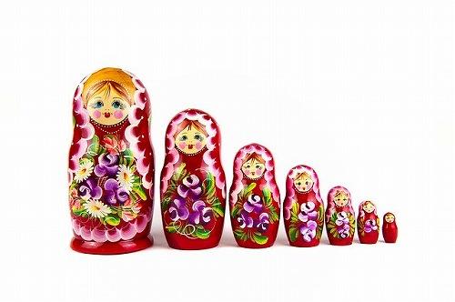 ロシア名物のマトリョーシカ