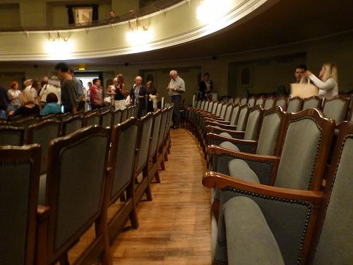 モスクワのロシア青年劇場の座席